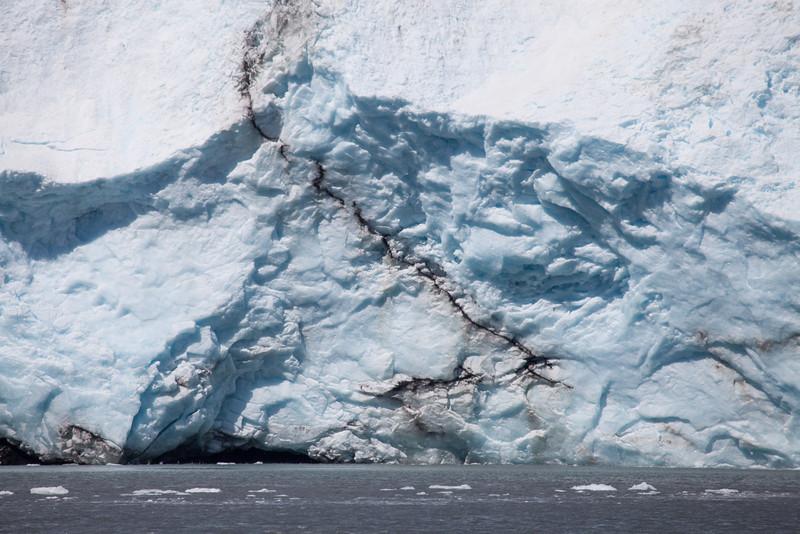 Glaciers look like marble ice cream.