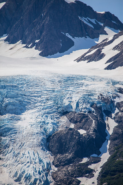 Overhead glacial view.