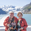 Carol and I at Surprise Glacier near Whittier Alaska.