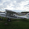 One of the planes at the airstrip.