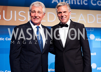 Sec. Def. Chuck Hagel with John Huntsman