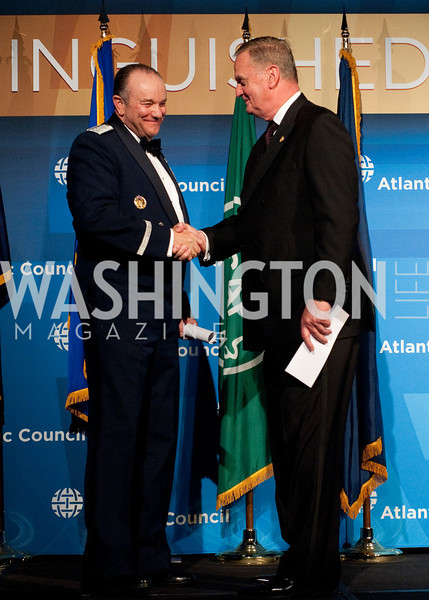 NATO Supreme Allied Commander Europe General Phillip Breedlove is introduced on stage.