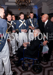 General Edward Rowny chats with a group of VMI cadets