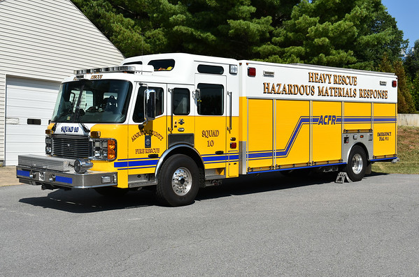 Squad 10 from Augusta County, Virginia is this large 2007 ALF Eagle/2008 Rescue Master with ALF serial number 060393.