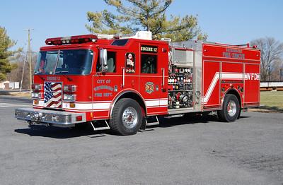 This 2003 Pierce Dash, 2000/500/25/75, sn-13685 runs as Engine 12.