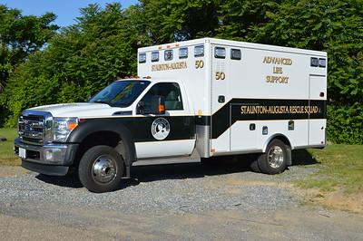 "Staunton-Augusta Rescue Squad - ""50"".  No other information."