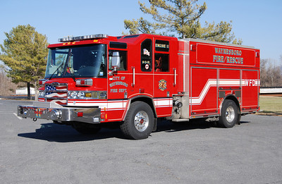 Engine 11 is this nice 2009 Pierce Quantum PUC, 1500/710/20, sn-20531.