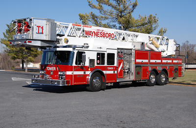 Tower 1 is a 1990 Grumman Aerial Cat, 1500/300, 102', sn-18294 that was an ex-demo.