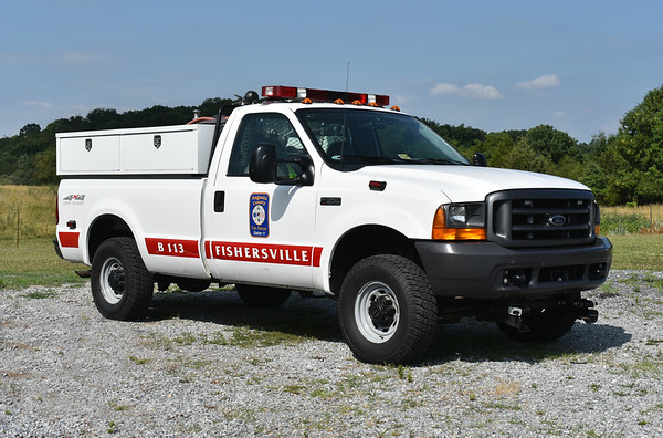 Brush 113 from Augusta County's Fishersville station  a 1999 Ford F350/J.N. Kalp & Sons 200 gallon water tank.  Ex- Fishersville VFD.
