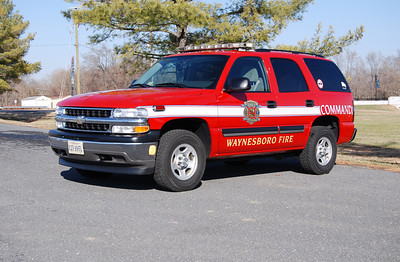 This 2005 Chevy Tahoe operates as Waynesboro's command unit.