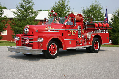 Former Engine 4 from Staunton is this nice 1963 Seagrave 'Shorty' Series, 750/300, that is privately owned.