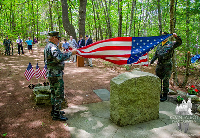 B-24 Crash-site Ceremony- Uxbridge, Massachusetts 5-17-15