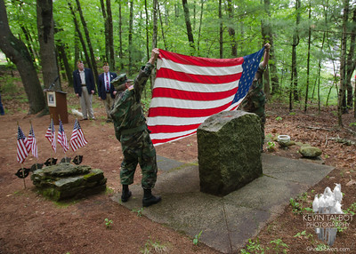 B-24 Crash site Ceremony Uxbridge, Massachusetts 5-20-18