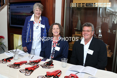 New Members check in table. Bev Roberts, Suzan and Charles Langlois