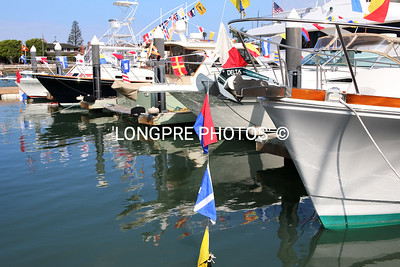 Boes of boats dressed for Opening Day.