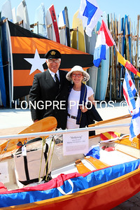 Staff. Comm. Alan Andrews and wife Mollu Lynch bye her 50 year old sabot 'MOLLYWOG'
