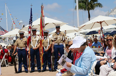 US Marine Color guards.