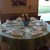 Table Setting with Custom Menu Placed