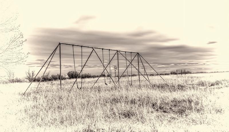 Empty playground at Fryburg