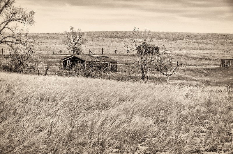 """West of Medora on highway 10. <br /> <br /> You can own this print as wall decor or other products.  Click the """"buy"""" button to browse."""