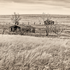 "West of Medora on highway 10. <br /> <br /> You can own this print as wall decor or other products.  Click the ""buy"" button to browse."