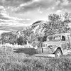 """When needed, this farm truck 70-years old can still be pressed in to service at this ranch north of Medora.<br /> <br /> You can own this image as a print, or other product. Just click """"buy"""" to browse products available with this image."""