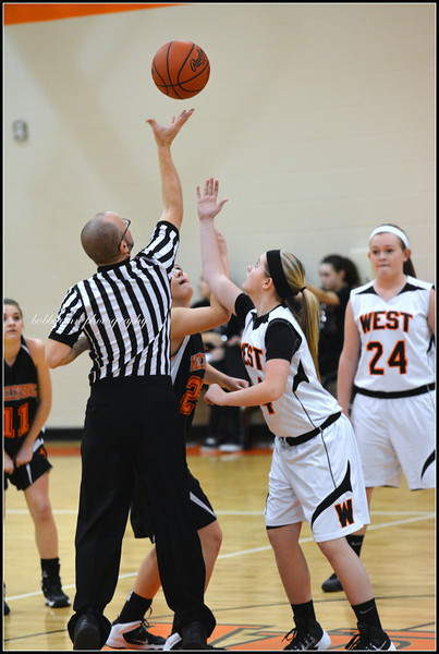 8th Grade Girls Bball West vs Burg