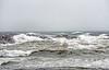 Hurricane Irene churning up the ocean waters in 2011 in York, Maine.