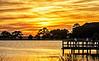 Kiawah River at sunset.