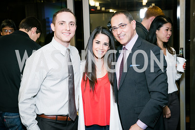 Andrew Green, Rachel Glicksman, Dan Bohnett. Photo by Alfredo Flores. Beasley Real Estate 2nd Anniversary Celebration. Beasley Real Estate Washington, DC office. January 30, 2014-2.CR2