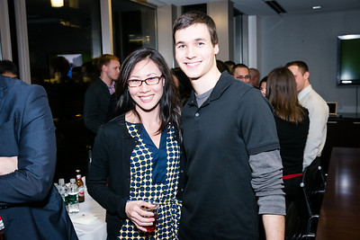 Judy Chen, Jacob Cigna. Photo by Alfredo Flores. Beasley Real Estate 2nd Anniversary Celebration. Beasley Real Estate Washington, DC office. January 30, 2014-2-3.CR2