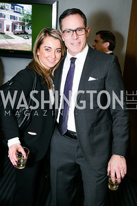 Candace Asmar, Gregg Busch. Photo by Alfredo Flores. Beasley Real Estate 2nd Anniversary Celebration. Beasley Real Estate Washington, DC office. January 30, 2014-2.CR2