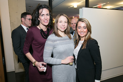 D'ann Lanning, Kori Bathurst, Candace Asmar. Photo by Alfredo Flores. Beasley Real Estate 2nd Anniversary Celebration. Beasley Real Estate Washington, DC office. January 30, 2014-2-3.CR2