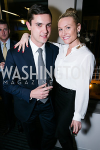 Eric Tomlinson, Hillary Morton. Photo by Alfredo Flores. Beasley Real Estate 2nd Anniversary Celebration. Beasley Real Estate Washington, DC office. January 30, 2014-2.CR2
