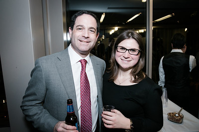 David Kanstoroom, Kira Epstein. Photo by Alfredo Flores. Beasley Real Estate 2nd Anniversary Celebration. Beasley Real Estate Washington, DC office. January 30, 2014.CR2