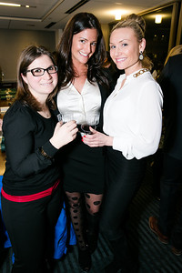 Kira Epstein, Ryan Eve Nester, Hillary Morton. Photo by Alfredo Flores. Beasley Real Estate 2nd Anniversary Celebration. Beasley Real Estate Washington, DC office. January 30, 2014-2-3.CR2