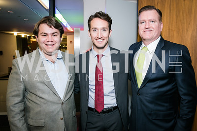 Andrew Rubin, Kevin Gray, Jm Bell. Photo by Alfredo Flores. Beasley Real Estate 2nd Anniversary Celebration. Beasley Real Estate Washington, DC office. January 30, 2014-2.CR2