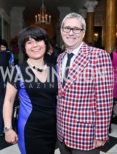 Helen Nowicka, David Taylor. Photo by Tony Powell. Beatles Tribute Party. British Ambassador's residence. February 8, 2014