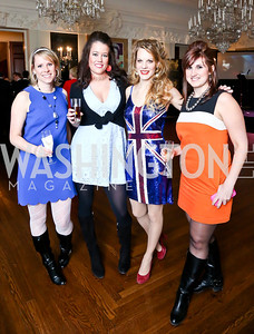 Julia Kettle, Emily Braid, Melinda Goforth, Jessica Jennings. Photo by Tony Powell. Beatles Tribute Party. British Ambassador's residence. February 8, 2014