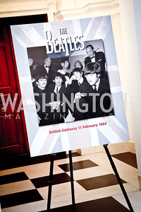 Photo by Tony Powell. Beatles Tribute Party. British Ambassador's residence. February 8, 2014