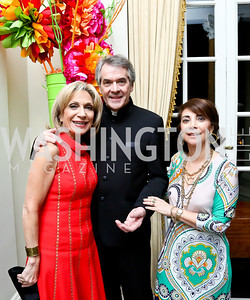 Andrea Mitchell, British Amb. Sir Peter Westmacott and Lady Westmacott. Photo by Tony Powell. Beatles Tribute Party. British Ambassador's residence. February 8, 2014
