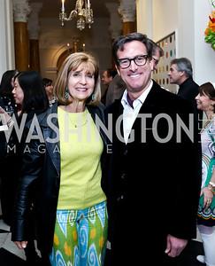 Paula Dobriansky, Bruce Friedman. Photo by Tony Powell. Beatles Tribute Party. British Ambassador's residence. February 8, 2014