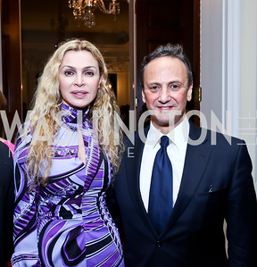 Rima Al-Sabah and Kuwaiti Amb. Salem Al-Sabah. Photo by Tony Powell. Beatles Tribute Party. British Ambassador's residence. February 8, 2014