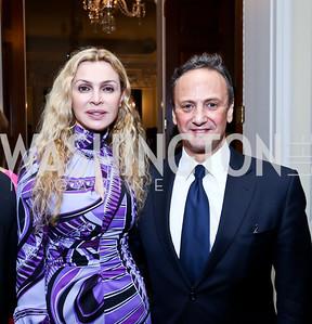 Rima Al-Sabah and Kuwaiti Amb. Salem Al-Sabah. Photo by Tony Powell. Beatles Tribute Party. British Ambassador's residence. February 8, 2014