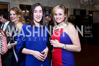 Kate Graham, Amy English. Photo by Tony Powell. Beatles Tribute Party. British Ambassador's residence. February 8, 2014