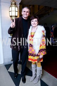 Anthony and Kim Rock. Photo by Tony Powell. Beatles Tribute Party. British Ambassador's residence. February 8, 2014