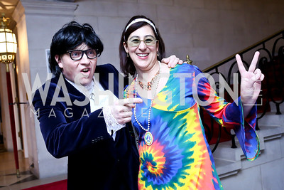 Ed Moorhouse, Anne Collett. Photo by Tony Powell. Beatles Tribute Party. British Ambassador's residence. February 8, 2014