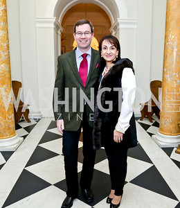 Robert and Elena Allbritton. Photo by Tony Powell. Beatles Tribute Party. British Ambassador's residence. February 8, 2014