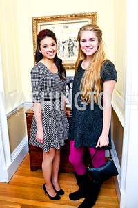 Jennifer Tran, Emily Karl. Photo by Tony Powell. Beatles Tribute Party. British Ambassador's residence. February 8, 2014
