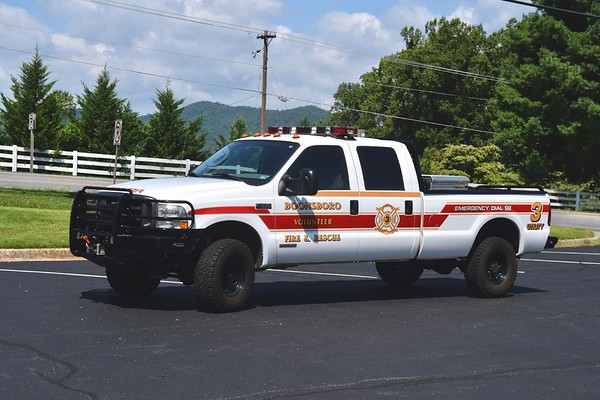 Utility 3 is a 2003 Ford F-350.